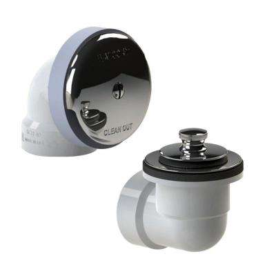 601 Series Sch. 40 PVC Bath Waste Half Kit with Lift and Turn Bathtub Stopper in Chrome Plated