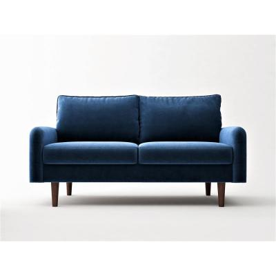 Vivo Space Blue Velvet 2 Seater Loveseat European Style