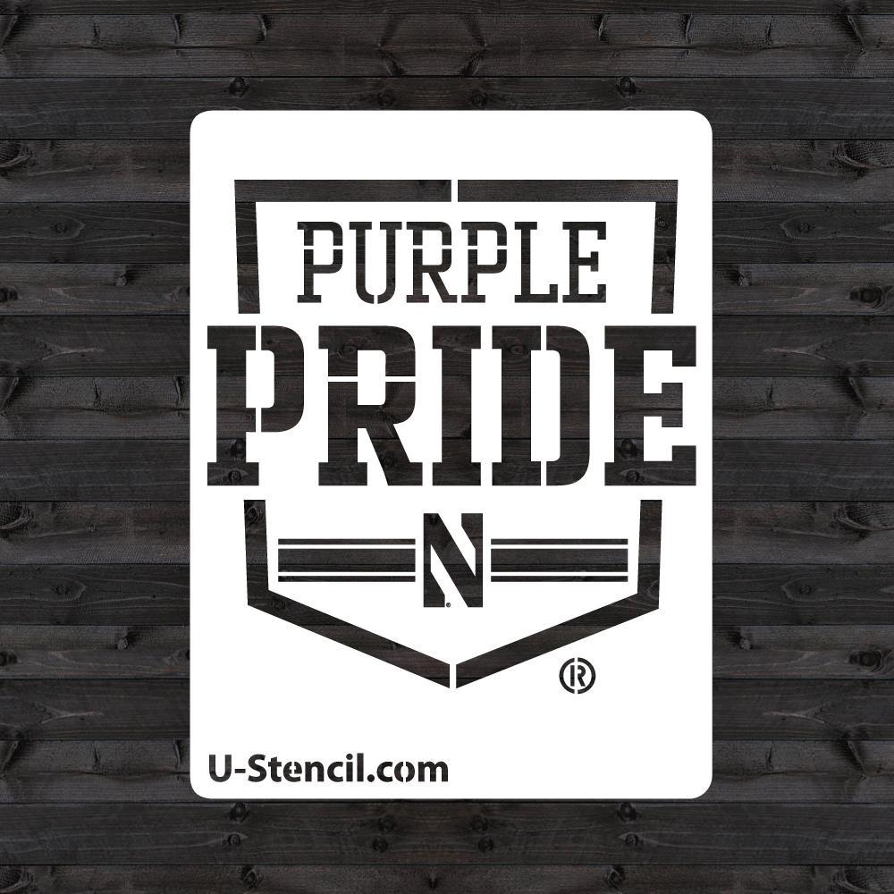 "Northwestern ""N"" Purple Pride Mini Stencil"