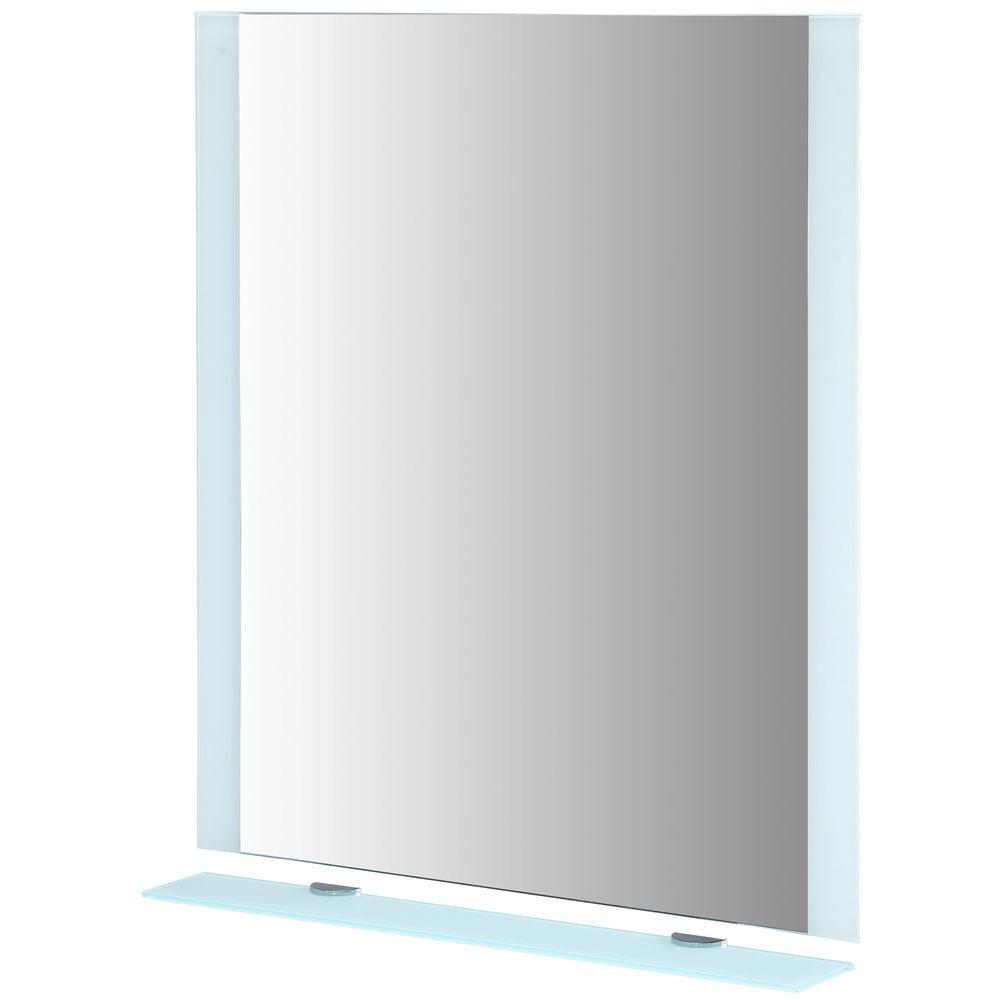 RYVYR Krom C 28 in. W x 32 in. L Wall Mirror in White