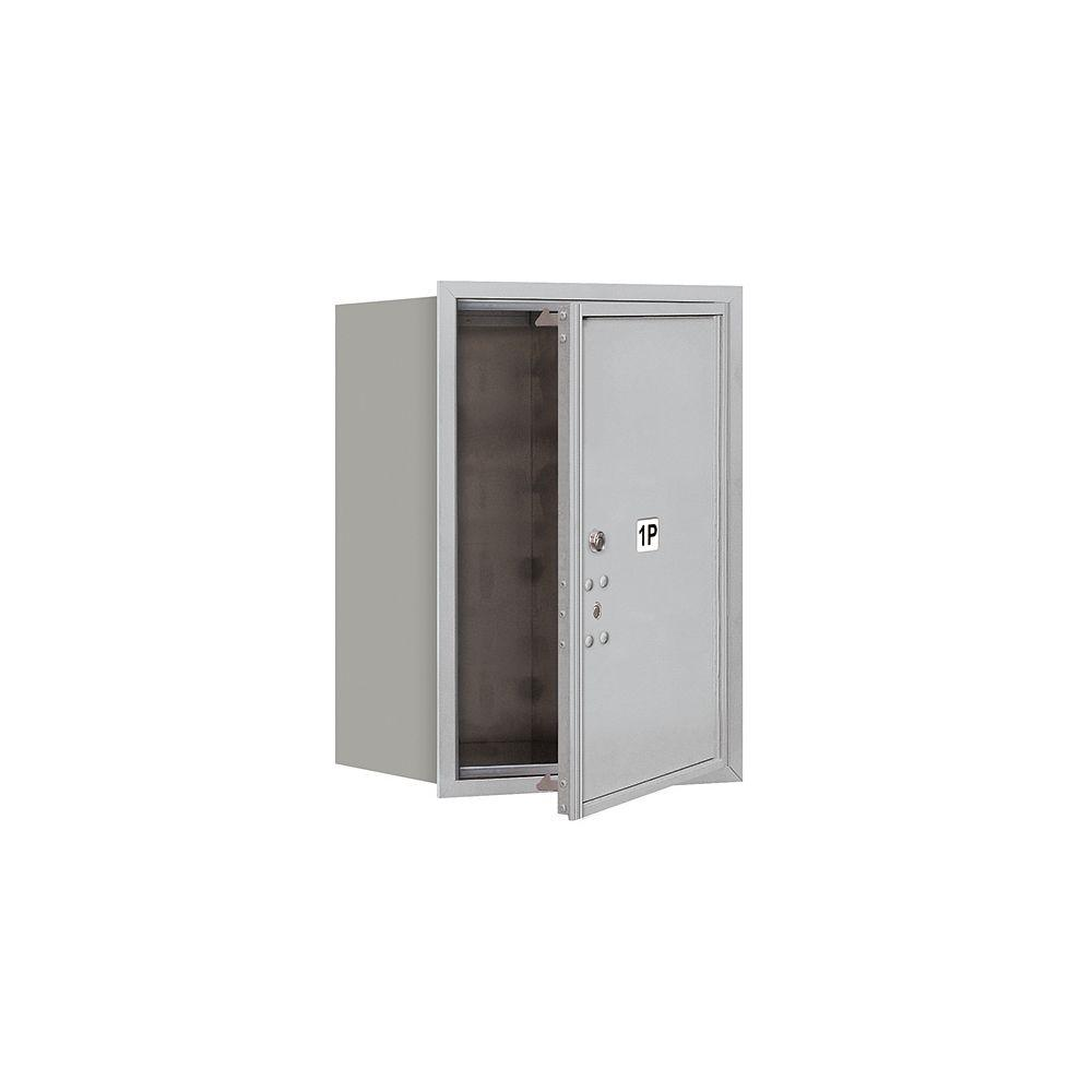 Salsbury Industries 3700 Series 23-1/2 in. 6 Door High Unit Parcel Locker 1 PL6 4C USPS Front Loading Horizontal Mailbox in Aluminum
