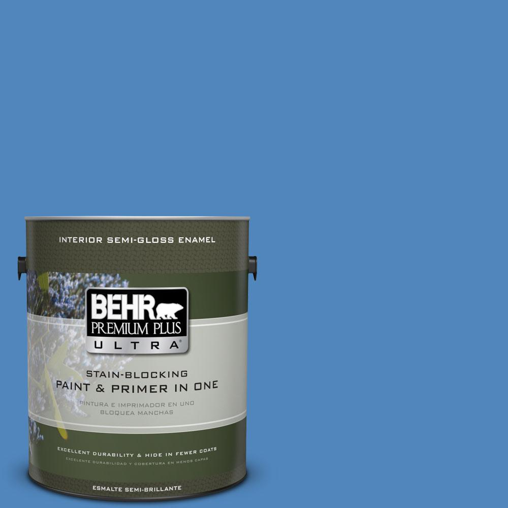 BEHR Premium Plus Ultra 1-gal. #570B-6 Handsome Hue Semi-Gloss Enamel Interior Paint