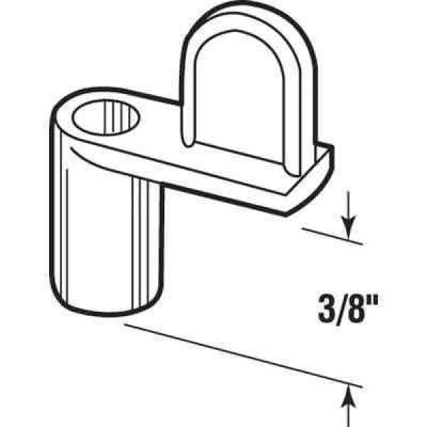 White Pack of 4 Prime-Line L 5931 Universal Screen Clips Diecast Fits Flush to 7//16 Inches Painted Finish Stackable Height-Adjustment Rings