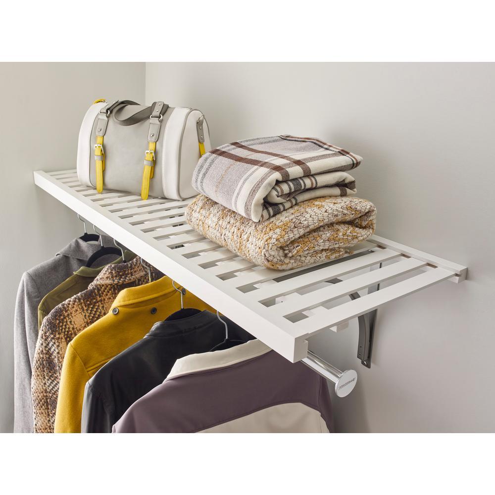 16 in. x 72 in Ventilated Wood Shelf Kit in White