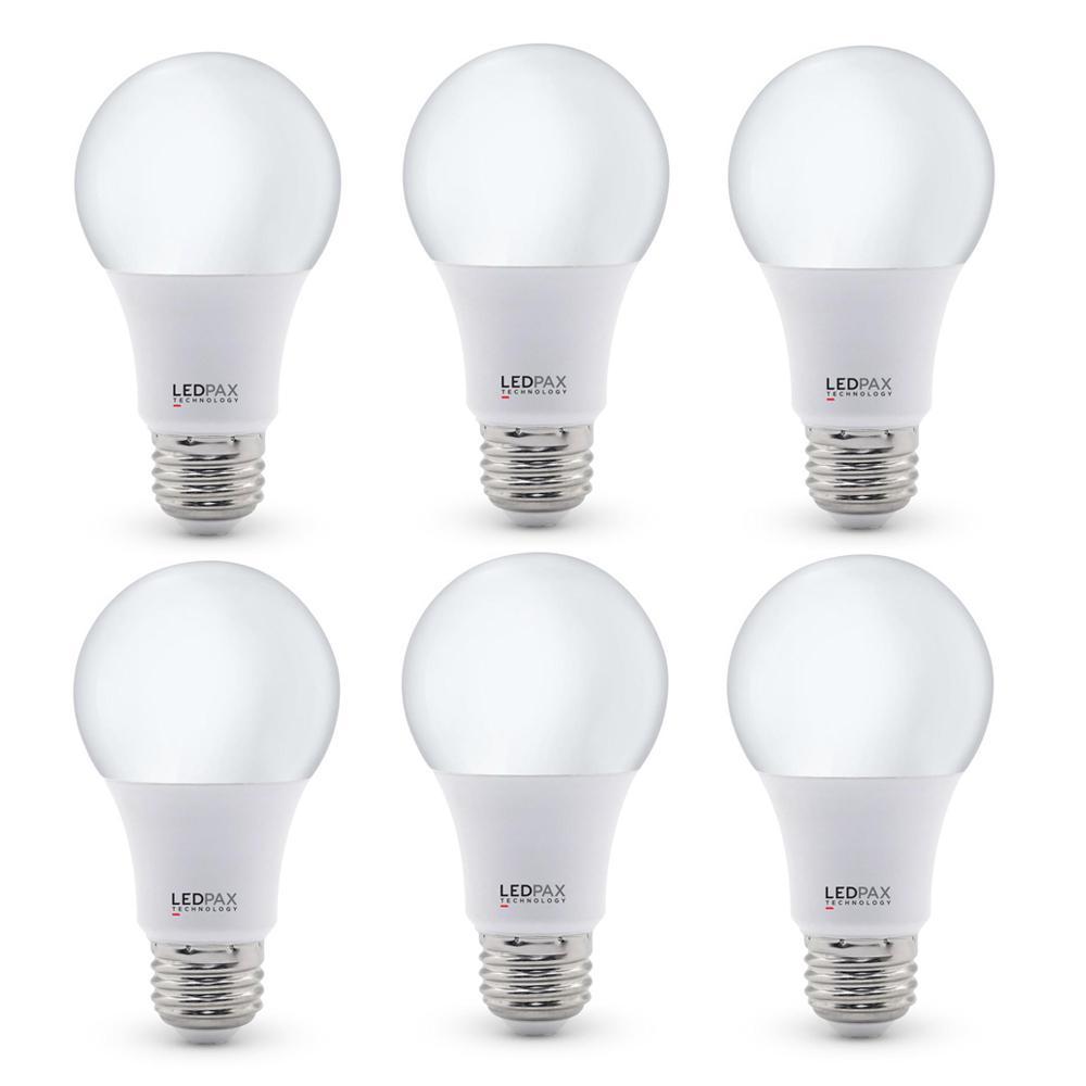 60-Watt Equivalent A19 Dimmable LED Light Bulb (6-Pack)