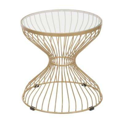Rose Gold Metal Outdoor Side Table