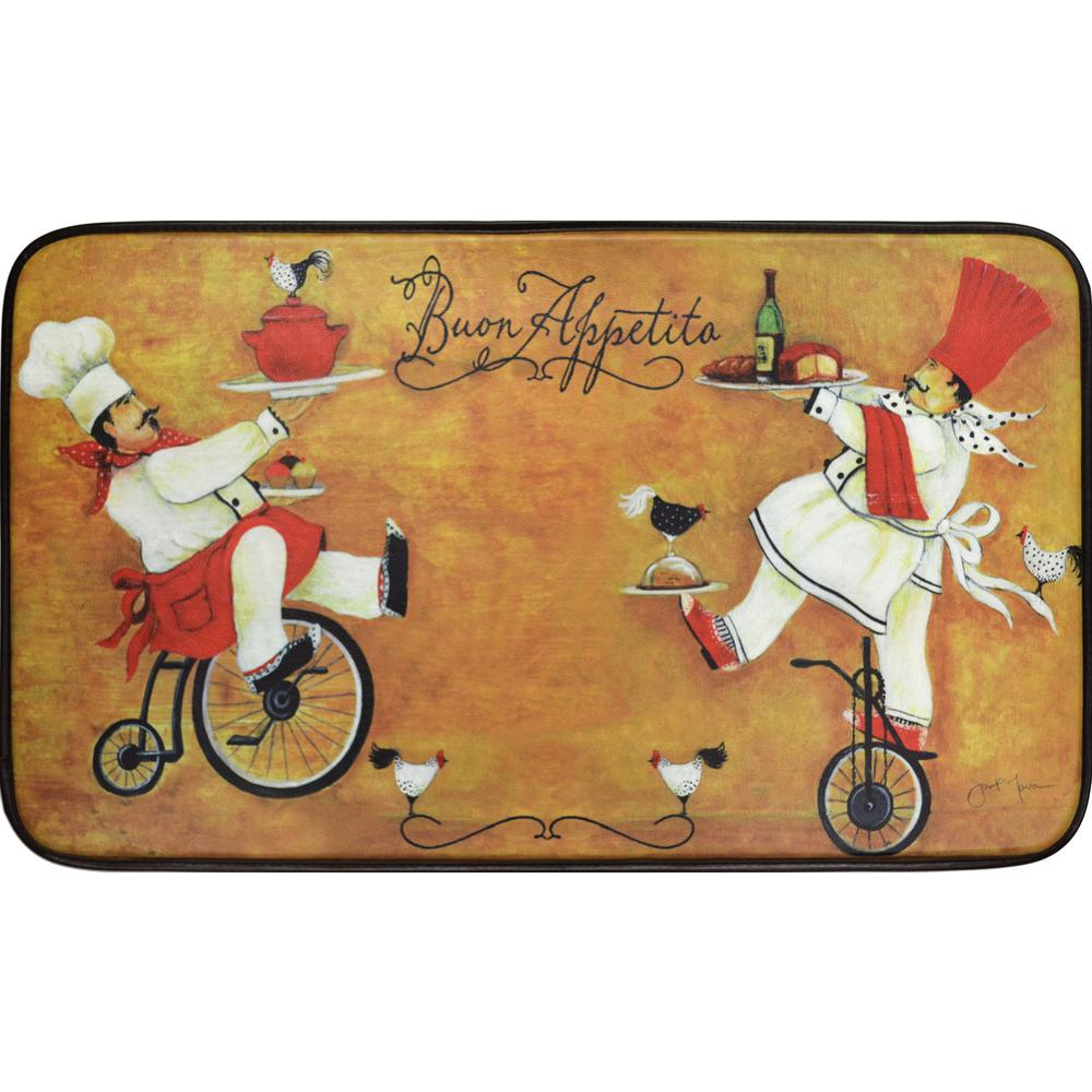 Bicycle Kitchen: Home Dynamix Designer Chef Bicycle Chef Duo 18 In. X 30 In