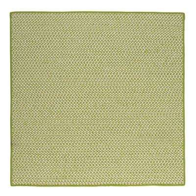 Sadie Lime 6 ft. x 6 ft. Indoor/Outdoor Braided Area Rug