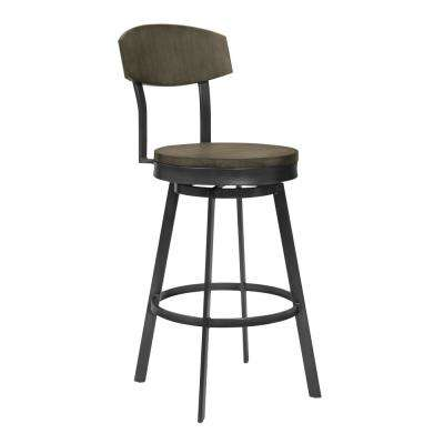 Conway 38 in. Grey Walnut Barstool