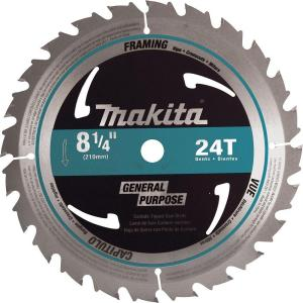 Makita 8-1/4 inch 24-Teeth Framing Carbide-Tipped Circular Saw Blade by Makita