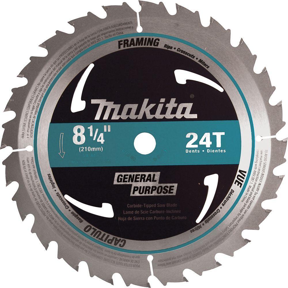 8-1/4 in. 24-Teeth Framing Carbide-Tipped Circular Saw Blade