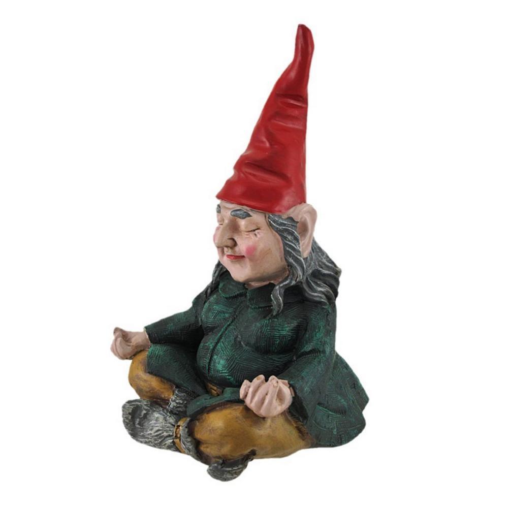 11 in. H  Meditating ZEN Zelda the Female Yoga Garden Gnome Figurine Statue