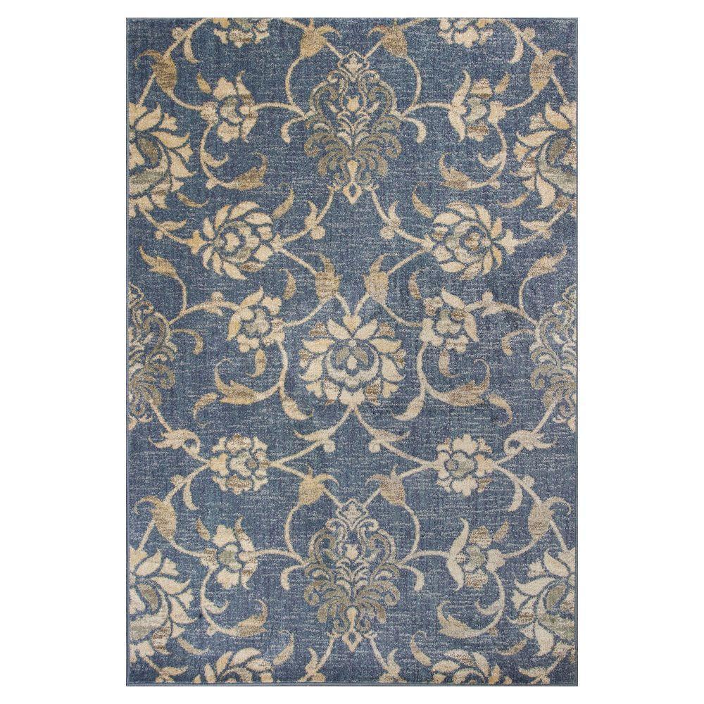 Kas rugs willowdale denim 7 ft 7 in x 10 ft 10 in area for Garden room 2x3