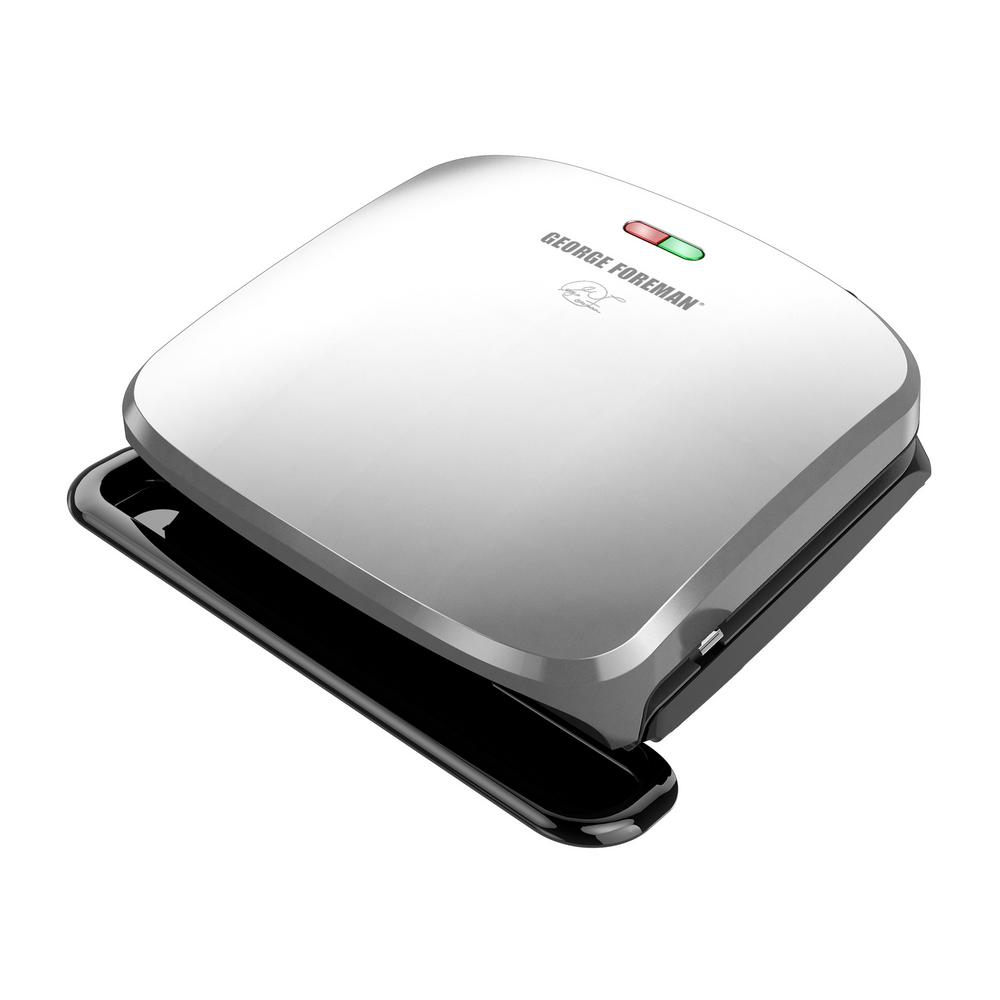 George Foreman 60 sq. in. Platinum Indoor Grill with Removable Plates