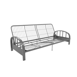 2 Dhp Aiden Full Size Futon Frame In Silver