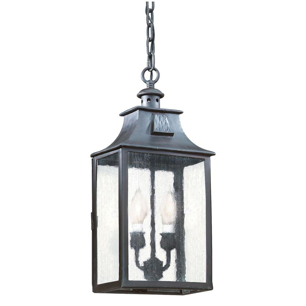 Troy Lighting Newton 2 Light Old Bronze Outdoor Pendant