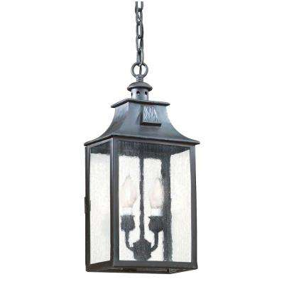 Newton 2-Light Old Bronze Outdoor Pendant