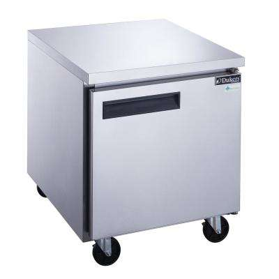 29 in. W 7 cu. ft. Single Door Undercounter Commercial Refrigerator in Stainless Steel