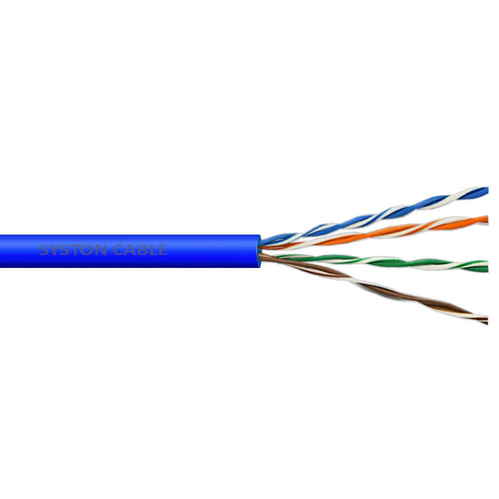 Cat5E 1,000 ft. Blue 24-4 Riser Twisted Pair Cable