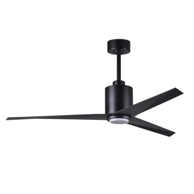 Eliza 56 in. LED Gloss White Ceiling Fan with Matte Black Blades Light Kit and Hand Held Remote Control/Wall Control