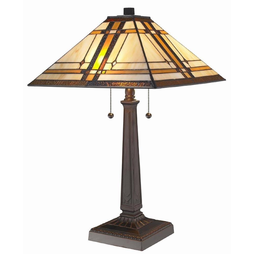 Superbe Tiffany Style Mission Table Lamp