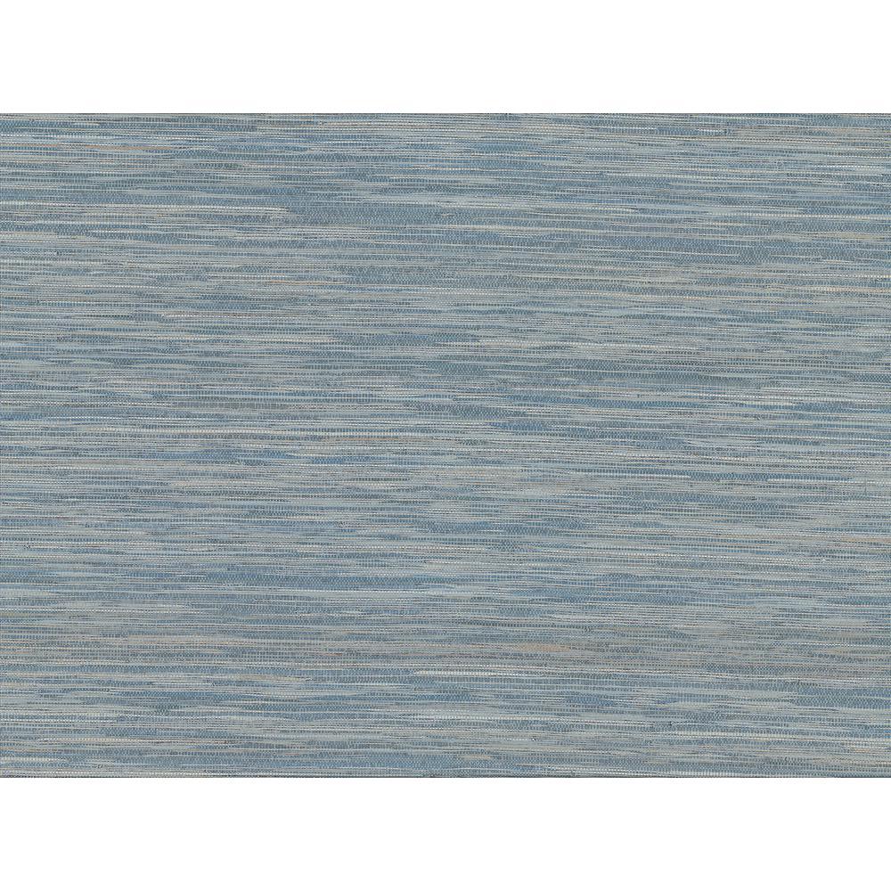 8 in. x 10 in. Pattaya Blue Grasscloth Sample