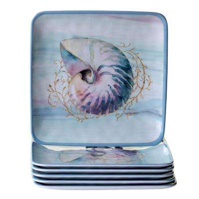 Ocean Dream 6-Piece Salad Plate Set