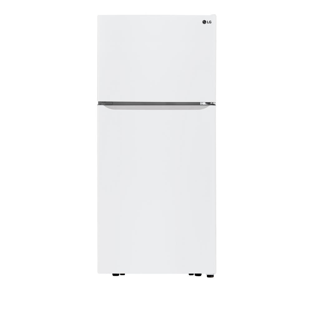 LG Electronics 30 in. 20 cu. ft. Top Freezer Refrigerator in White with Reversible Door