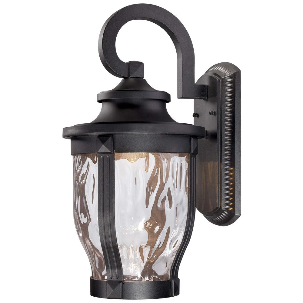 Minka Lavery Merrimack 1-Light Black Outdoor Integrated LED Wall Mount Lantern