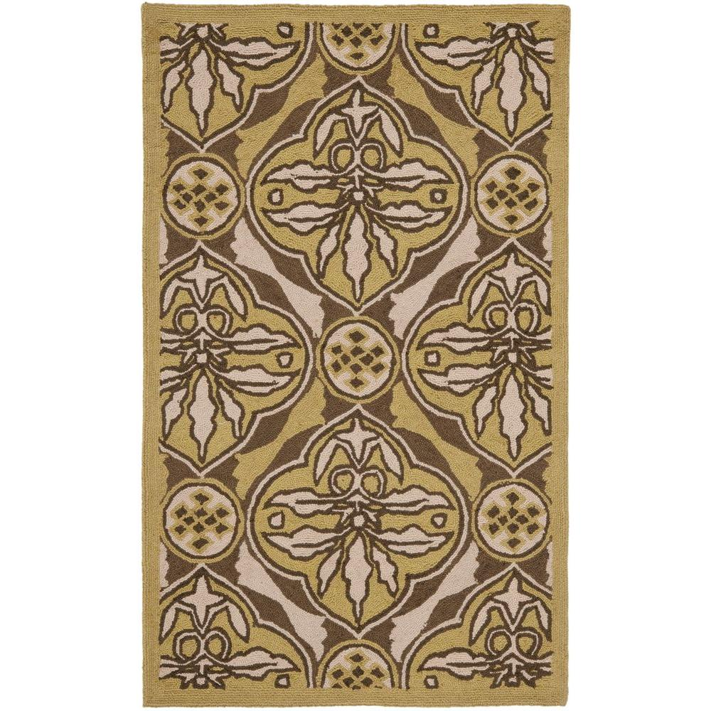 Chelsea Brown/Green 2 ft. 6 in. x 4 ft. Area Rug
