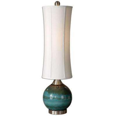 41 in. Tesxtured Rusty Black Accent Lamp