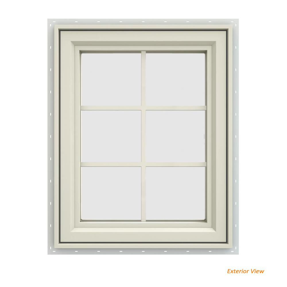 23.5 in. x 29.5 in. V-4500 Series Cream Painted Vinyl Left-Handed