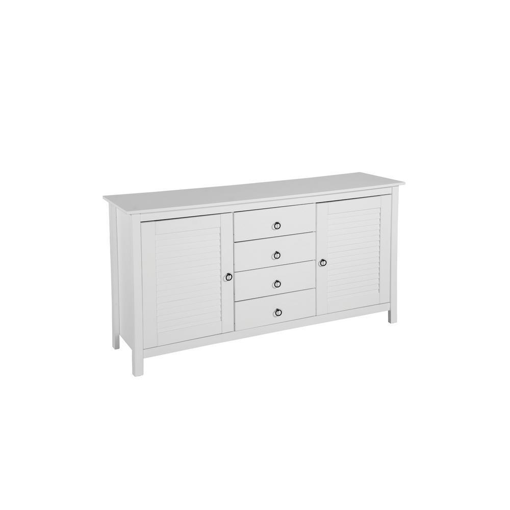 Manhattan Comfort Sullivan 4-Drawer White Dresser Chest CS94408