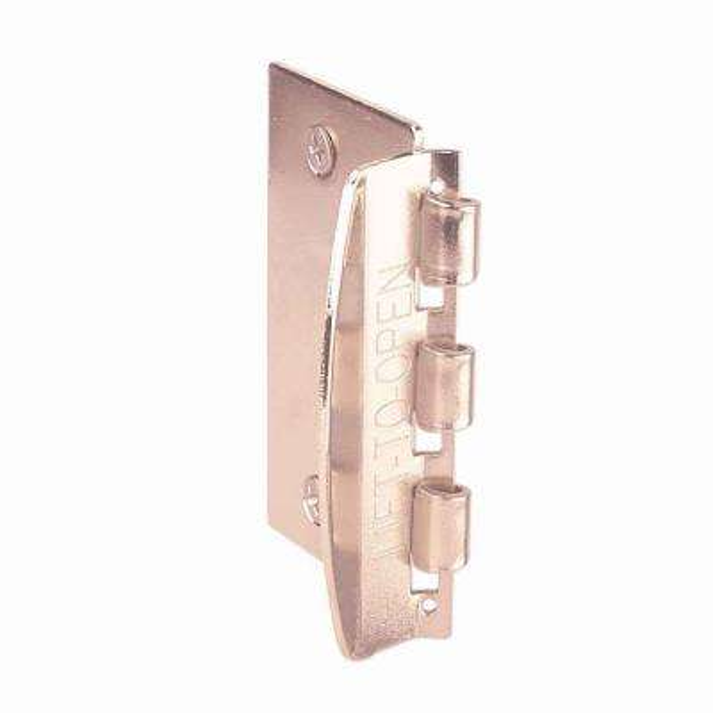 2-3/4 in. Door Lock Steel Brass-Plated Flip-Action Door Lock