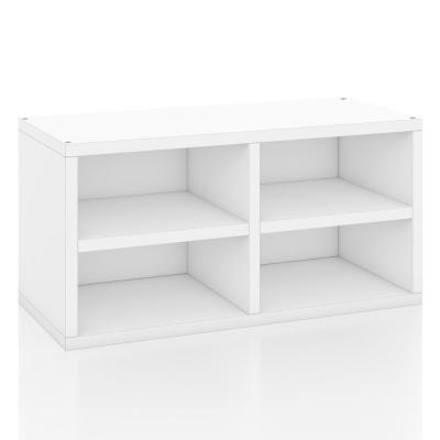 zBoard White Stackable Rectangle Bookcase with Shelf