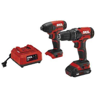 PWRCORE 20-Volt Lithium-Ion Cordless 2-Tool Combo Kit with Drill, Driver and Impact Driver