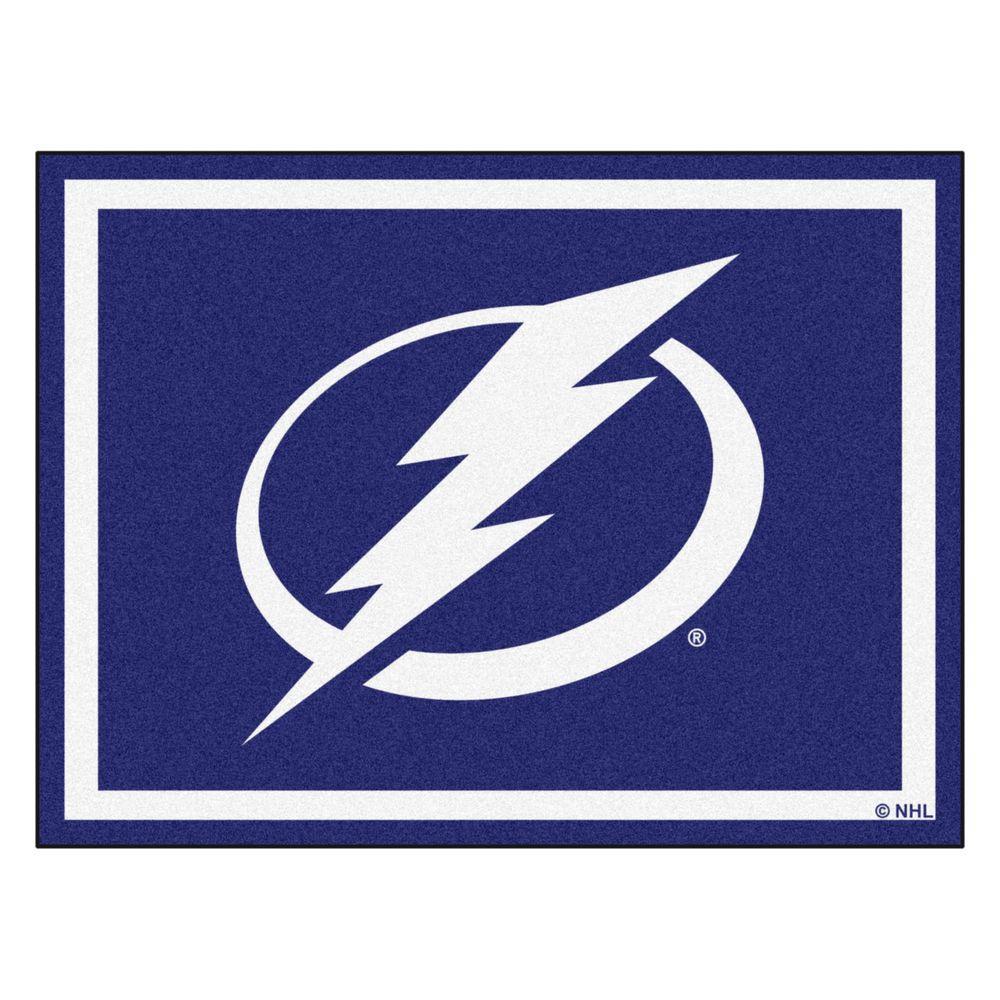 NHL Tampa Bay Lightning Blue 8 ft. x 10 ft. Indoor Area Rug