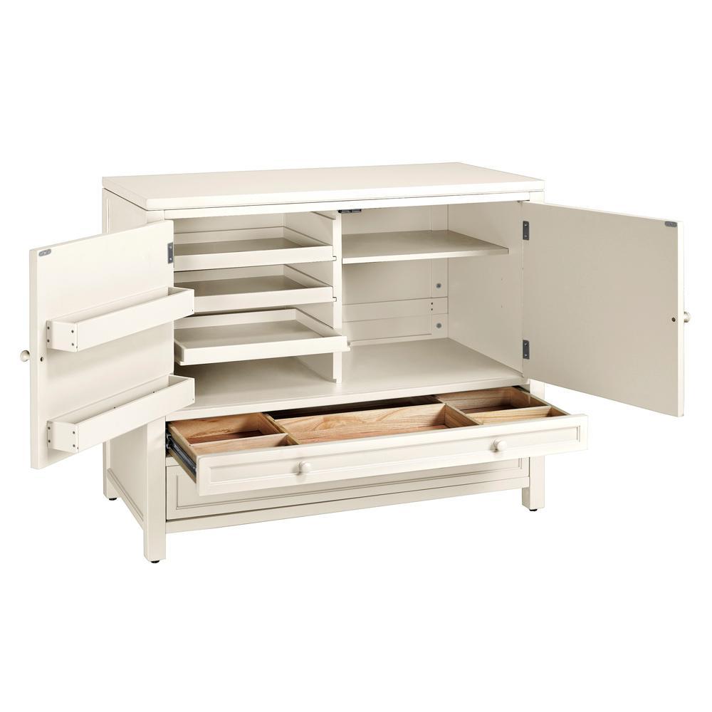 Martha Stewart Living 42 in. Wood Craft Space Storage Cabinet in ...