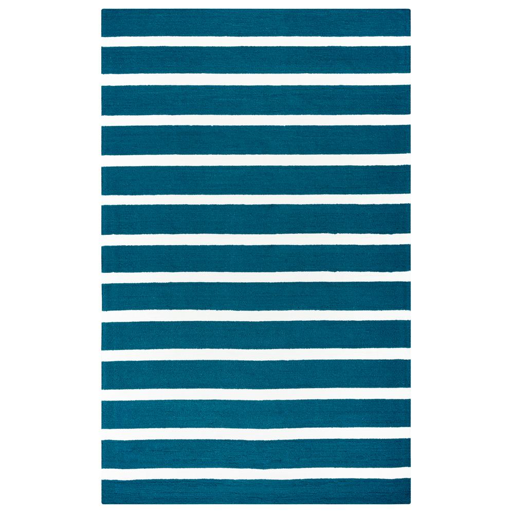 Rizzy Rugs Azzura Hill Marine Blue Striped 5 ft. x 8 ft. ...