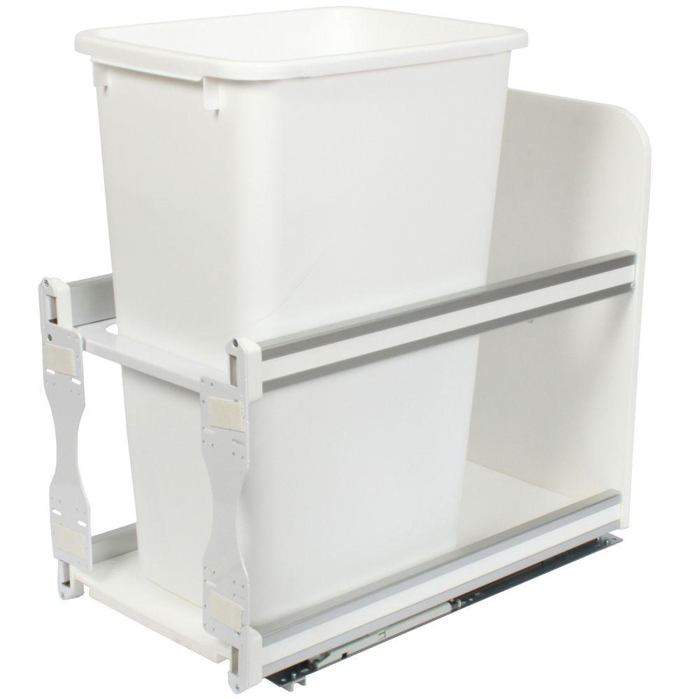 Knape & Vogt 23.25 in. x 11.81 in. x 22.44 in. In Cabinet Soft Close Pull Out Trash Can
