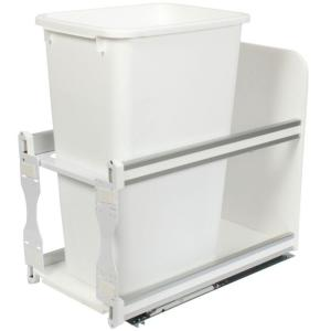 Knape & Vogt 23.25 inch x 11.81 inch x 22.44 inch In Cabinet Soft Close Pull Out Trash Can by Knape & Vogt