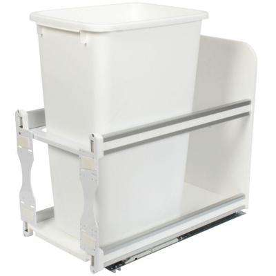 23.25 in. x 11.81 in. x 22.44 in. In Cabinet Soft Close Pull Out Trash Can