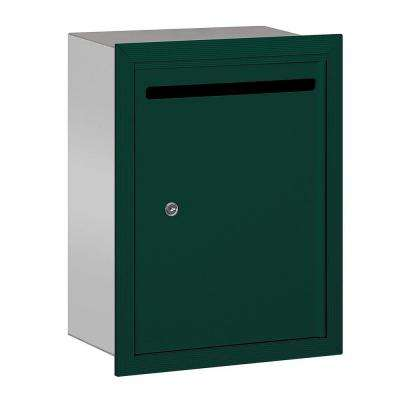 2240 Series Green Standard Recessed-Mounted Private Letter Box with Commercial Lock