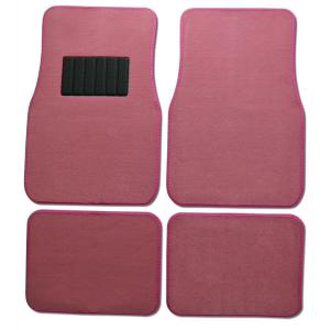 BDK Classic MT-100 Pink Carpet With Rubberized Backing 4-Piece Car Floor Mats by BDK