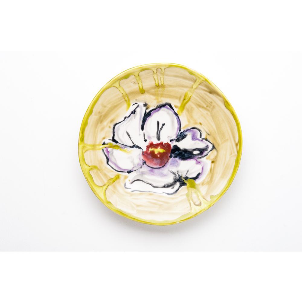 Fiori Ceramic Camellia Plate Set of 4