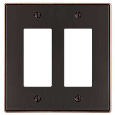 Ansley Cast 2-Decora Wall Plate, Aged Bronze