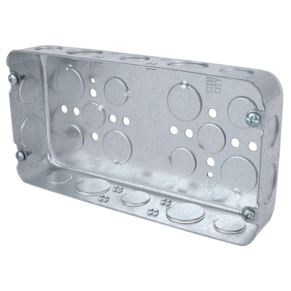 3-Gang 58 cu. in. Pre-Galvanized Steel Drawn Style Box