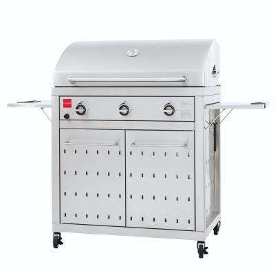 Premium 3-Burner Propane Grill in Stainless Steel