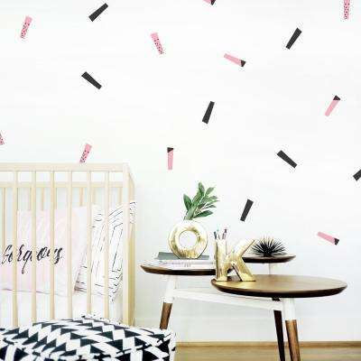 Streamers Wall Decal - Black/Pink