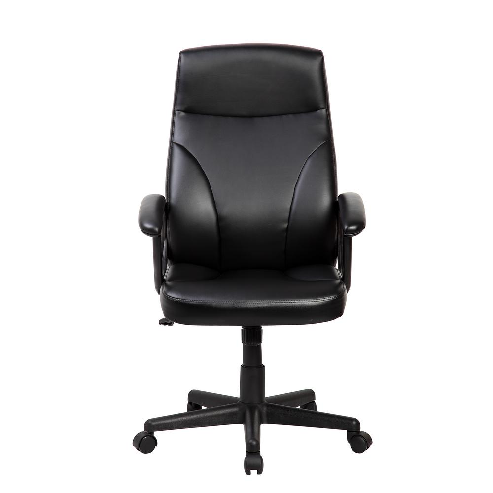 Techni Mobili Black Um Back Executive Office Chair With Flip Up Arms